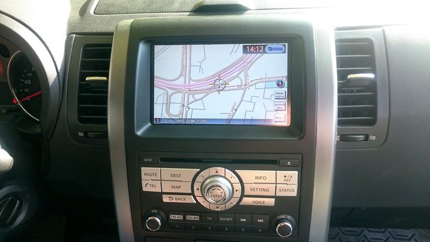 Обновление навигации  Nissan X-trail