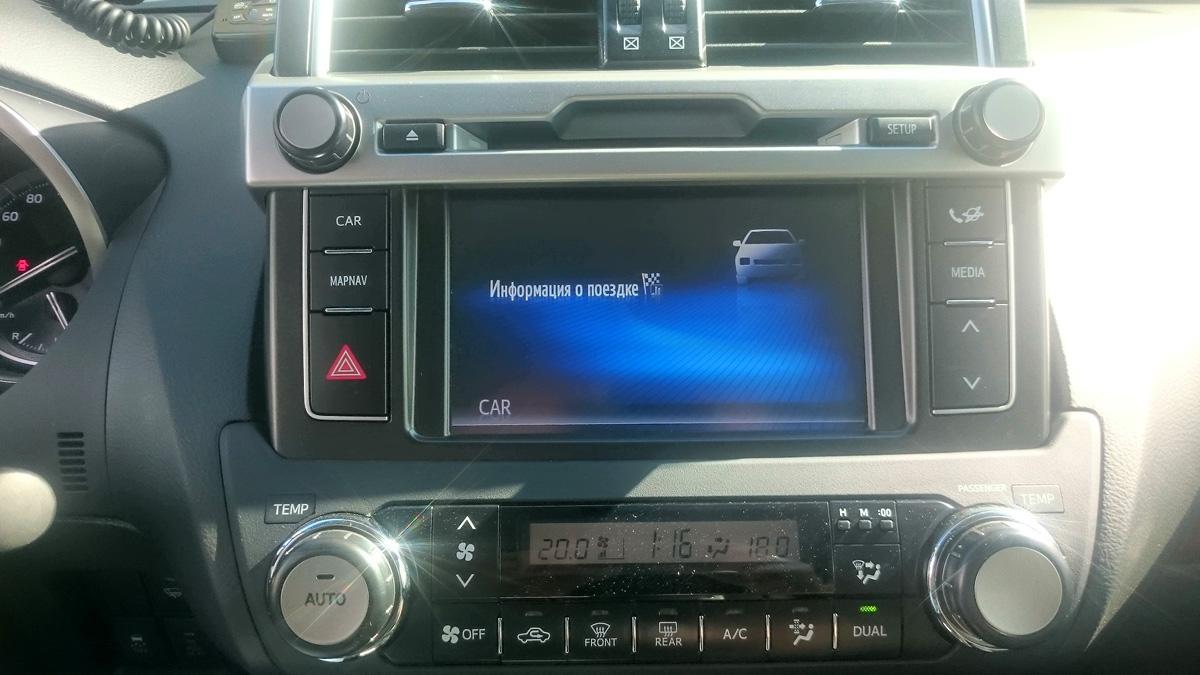 Дооснащение навигации Toyota